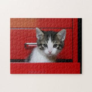 Kitten Peeking Jigsaw Puzzle