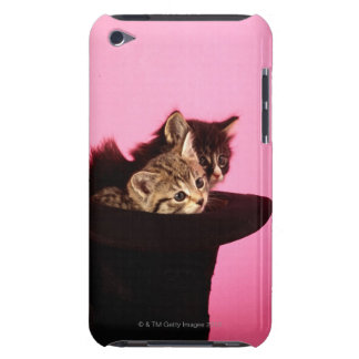 Kitten peeping out of hat barely there iPod cases