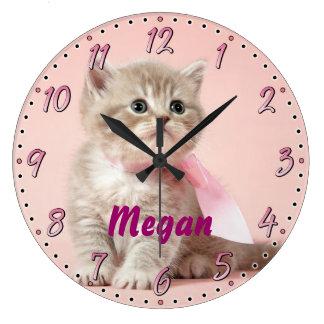Kitten Personalizable Decorative Wall Clock