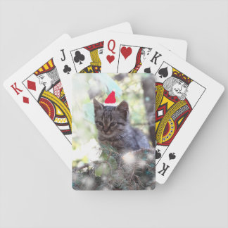 Kitten Photo  Christmas time Classic Playing Cards
