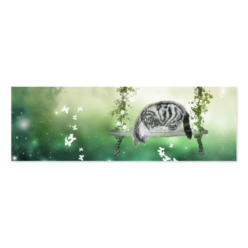 Kitten playing business card template