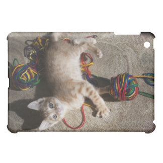 Kitten Playing With Yarn Cover For The iPad Mini