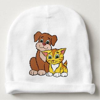 Kitten & Puppy Baby Beanie
