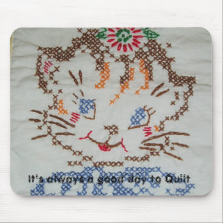 Kitten Quilt Square MousePad