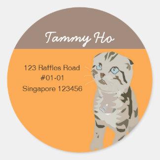 Kitten Return Address Sticker