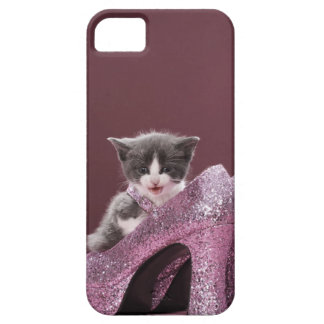 Kitten sitting in glitter shoes iPhone 5 cover