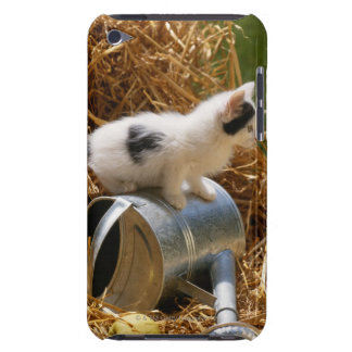 Kitten sitting on top of watering can iPod touch Case-Mate case