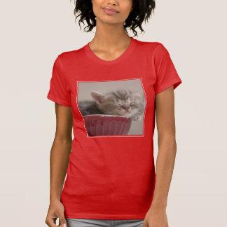 Kitten Sleeping In A Bowl T-Shirt