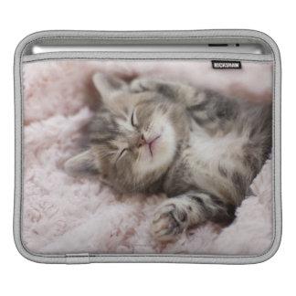 Kitten Sleeping on Towel iPad Sleeve