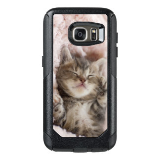 Kitten Sleeping On Towel OtterBox Samsung Galaxy S7 Case