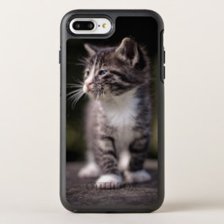 Kitten standing and squinting OtterBox symmetry iPhone 7 plus case