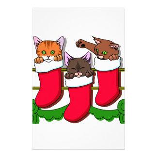 Kitten Stockings Stationery Paper