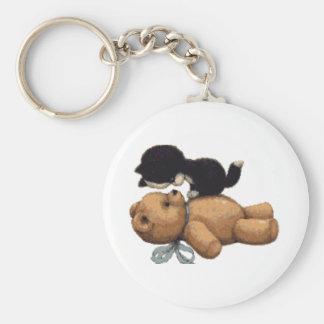 Kitten & Teddy Bear Gifts Keychains