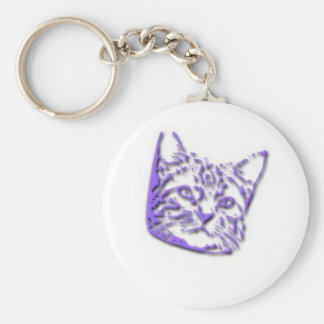 Kitten Tshirts and Gifts 314 Basic Round Button Key Ring