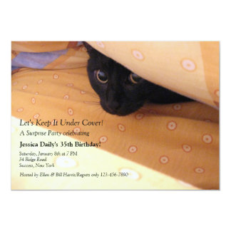 Kitten Under Cover Surprise Party Invitation