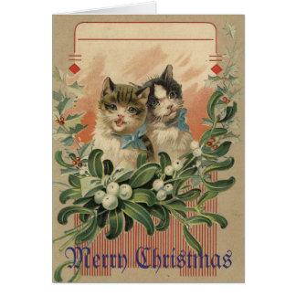 Kitten Victorian Christmas Card