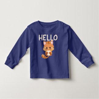 Kitten Waving Hello Toddler T-Shirt