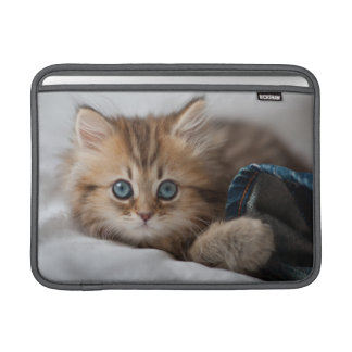 Kitten With Blue Eyes Playing Sleeve For MacBook Air