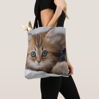 Kitten With Blue Eyes Tote Bag