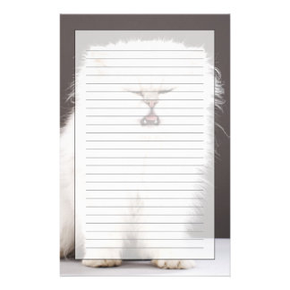 Kitten with Eyes Closed Stationery Paper