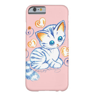 Kitten with Hearts & Swirls Barely There iPhone 6 Case