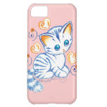 Kitten with Hearts & Swirls Case For iPhone 5C