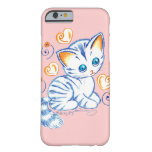 Kitten with Hearts & Swirls iPhone 6 Case