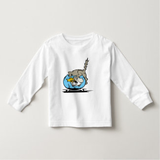 Kitten with his head  in a fishbowl toddler T-Shirt
