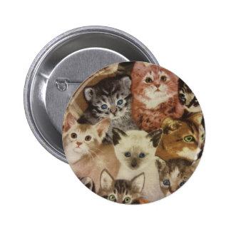 Kittens 6 Cm Round Badge