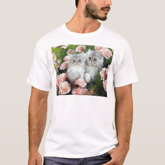 Kittens And Carnations T-Shirt