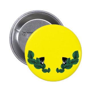 Kittens and Leaves (customizable) 6 Cm Round Badge