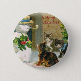Kittens and the Snowman 6 Cm Round Badge