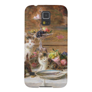 Kittens at a banquet, 19th century galaxy s5 cover