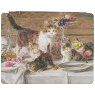 Kittens at a banquet, 19th century iPad cover