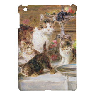 Kittens at a banquet, 19th century iPad mini case