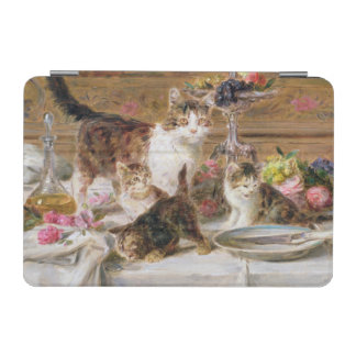Kittens at a banquet, 19th century iPad mini cover