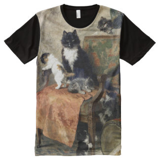 Kittens at Play All-Over Print T-Shirt