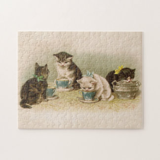 Kittens at Tea Party Puzzle