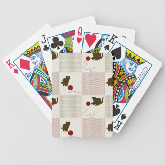 Kittens Backgrounds Bicycle Playing Cards