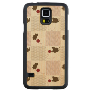Kittens Backgrounds Carved Maple Galaxy S5 Case