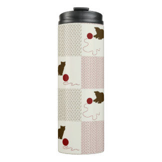 Kittens Backgrounds Thermal Tumbler