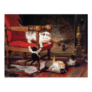 Kittens by Henriëtte Ronner-Knip Postcard
