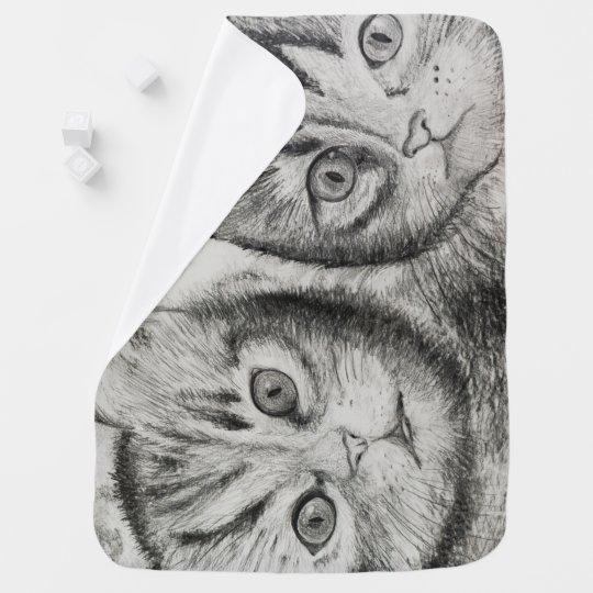 Kittens Duo for newborn, cats lovers, CraftiesPot Baby