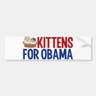 Kittens for Obama Bumper Sticker