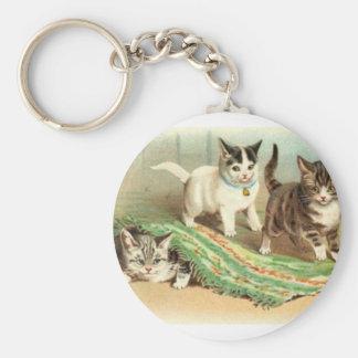 Kittens Hide and Seek Key Ring