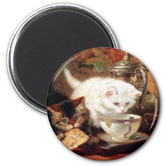 Kittens high tea party magnet