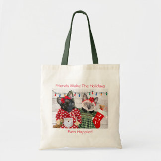 Kitten's Holiday Party Tote