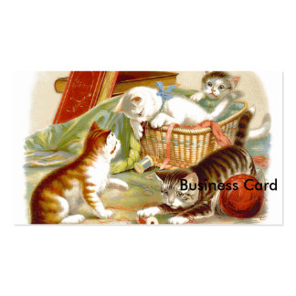 Kittens in a Basket playing Pack Of Standard Business Cards