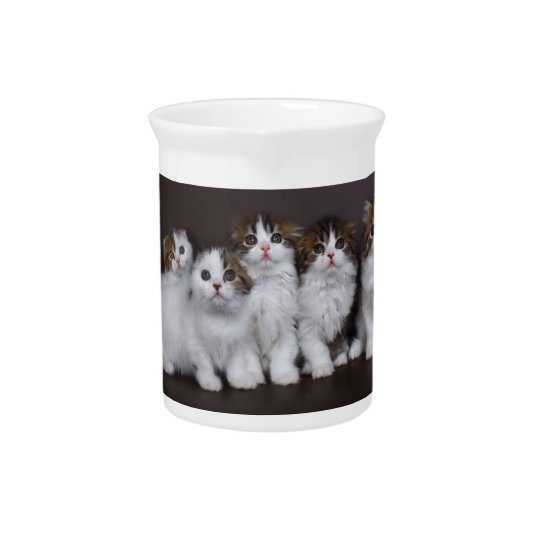 Kittens in a Row Porcelain Pitcher