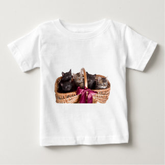 kittens in a wicker basket baby T-Shirt